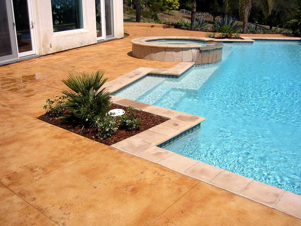 Decorative Concrete Pool Decks Acid Stained Pool Decks