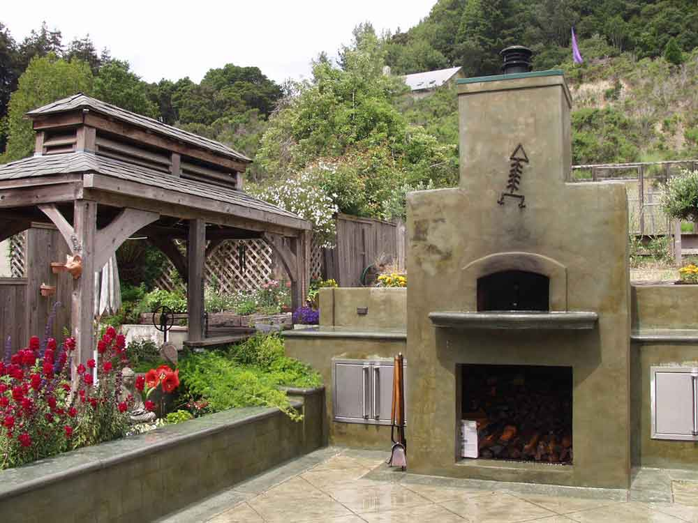 Outdoor Concrete Pizza Ovens Decorative Concrete